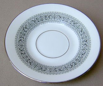 Make sure your browser can show photos and reload this page to see Oxford (Div Of Lenox) China Filigree Saucer only 6