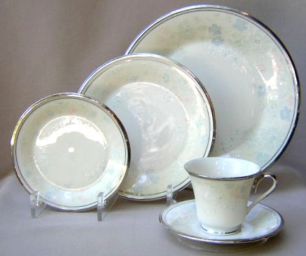 Make sure your browser can show photos and reload this page to see Lenox China Nicole Place setting 5-piece