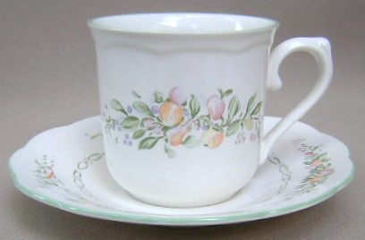 Make sure your browser can show photos and reload this page to see Lenox China Garden Gate Cup and saucer set 3 1/4