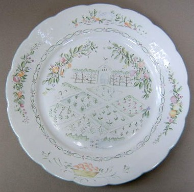 Make sure your browser can show photos and reload this page to see Lenox China Garden Gate Dinner plate 10 5/8