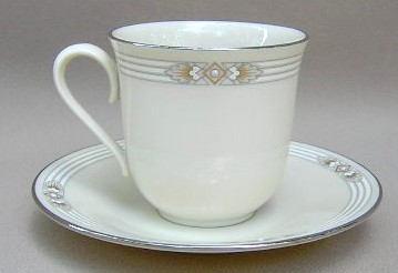 Make sure your browser can show photos and reload this page to see Lenox China Silver Springs Cup and saucer set 3 1/8