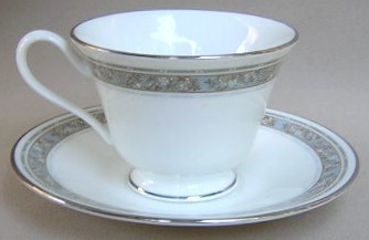 Make sure your browser can show photos and reload this page to see Oxford (Div Of Lenox) China Rendezvous Cup and saucer set