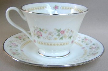 Make sure your browser can show photos and reload this page to see Oxford (Div Of Lenox) China Rosemont Cup and saucer set