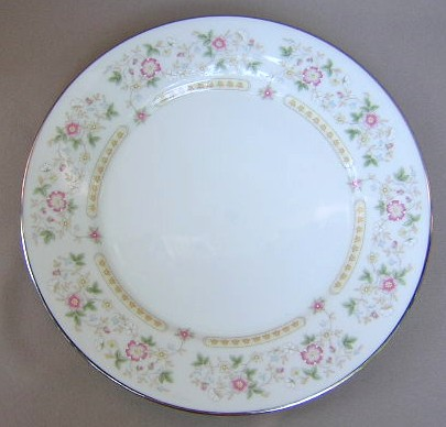Make sure your browser can show photos and reload this page to see Oxford (Div Of Lenox) China Rosemont Dinner plate