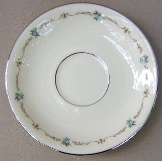 Make sure your browser can show photos and reload this page to see Lenox China Capri G511 Saucer only 5 5/8