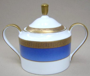 Make sure your browser can show photos and reload this page to see Faberge China Athena  Sugar bowl with lid