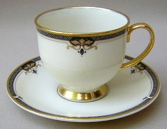 Make sure your browser can show photos and reload this page to see Lenox China Potomac Cup and saucer set 3 1.4