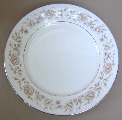 Make sure your browser can show photos and reload this page to see Oxford (Div Of Lenox) China Wakefield Dinner plate 10 1/8