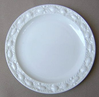 Make sure your browser can show photos and reload this page to see Adams China Della Robia - White Bread and butter plate 6