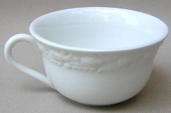Make sure your browser can show photos and reload this page to see Adams China Della Robia - White Cup only (no saucer) 3 5/8