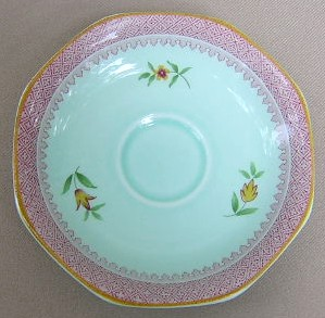 Make sure your browser can show photos and reload this page to see Adams China Lowestoft  Demitasse (saucer only) 4 7/8