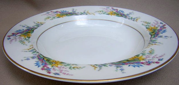 Make sure your browser can show photos and reload this page to see Arcadian - Prestige China Spring Glory  Soup bowl, rim shape  8
