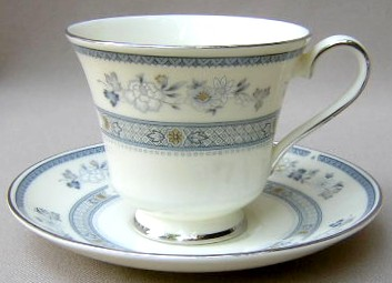 Make sure your browser can show photos and reload this page to see Minton China Penrose Cup and saucer set 3 1/2