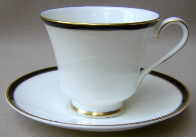 Make sure your browser can show photos and reload this page to see Minton China Saturn - Black Cup and saucer set 3 1/2