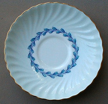 Make sure your browser can show photos and reload this page to see Minton China Cheviot - Blue S451 Saucer only