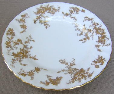 Make sure your browser can show photos and reload this page to see Minton China Ancestral Gold S595 Bread and butter plate 6 1/4