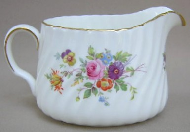 Make sure your browser can show photos and reload this page to see Minton China Marlow S309 Creamer wreath backstamp