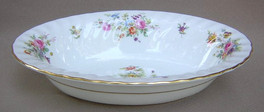 Make sure your browser can show photos and reload this page to see Minton China Marlow S309 Oval vegetable, large 10 1/4