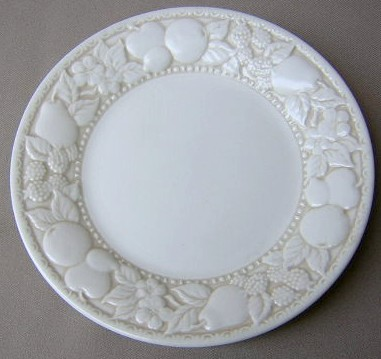 Make sure your browser can show photos and reload this page to see Metlox-Poppytrail-Vernon Pottery Vernon Antiqua Salad plate 7 5/8