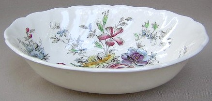 Make sure your browser can show photos and reload this page to see Johnson Brothers Dinnerware  Sheraton Oval vegetable 8 3/4