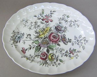Make sure your browser can show photos and reload this page to see Johnson Brothers Dinnerware  Sheraton Platter, small 11 3/4
