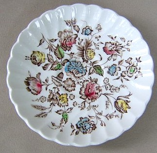 Make sure your browser can show photos and reload this page to see Johnson Brothers Dinnerware  Staffordshire Bouquet Saucer only 5 3/4