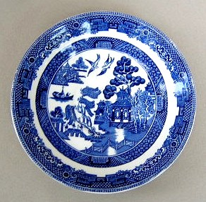 Make sure your browser can show photos and reload this page to see Johnson Brothers Dinnerware  Willow Saucer only 5 5/8