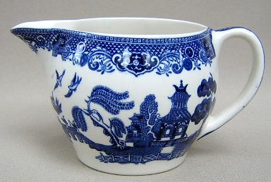 Make sure your browser can show photos and reload this page to see Johnson Brothers Dinnerware  Willow Creamer (blue)