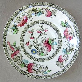 Make sure your browser can show photos and reload this page to see Johnson Brothers Dinnerware  Indian Tree Saucer only CREAM; 5 3/4