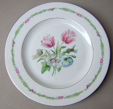 Make sure your browser can show photos and reload this page to see Haviland China Garden Flower Salad plate 7 1/2