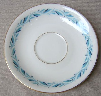 Make sure your browser can show photos and reload this page to see Lenox China Blue Ridge P316 Saucer only 5 5/8