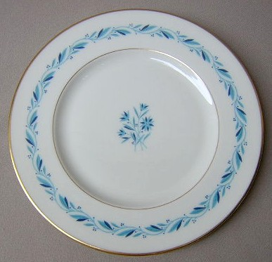 Make sure your browser can show photos and reload this page to see Lenox China Blue Ridge P316 Salad plate 8 1/4
