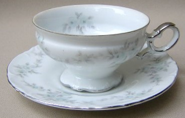 Make sure your browser can show photos and reload this page to see Mikasa China Barbizon H9089/92 Cup and saucer set 2 1/4