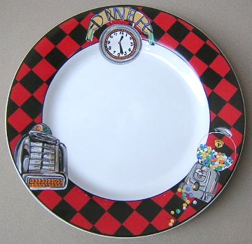 Make sure your browser can show photos and reload this page to see Sakura Dinnerware Roadside  Salad plate 8