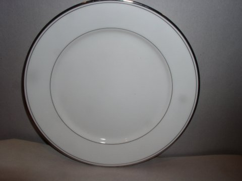 Make sure your browser can show photos and reload this page to see Gorham China Elegance Platinum Bread and butter plate
