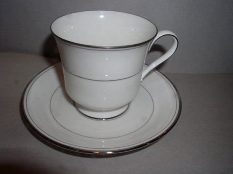 Make sure your browser can show photos and reload this page to see Gorham China Elegance Platinum Cup and saucer set