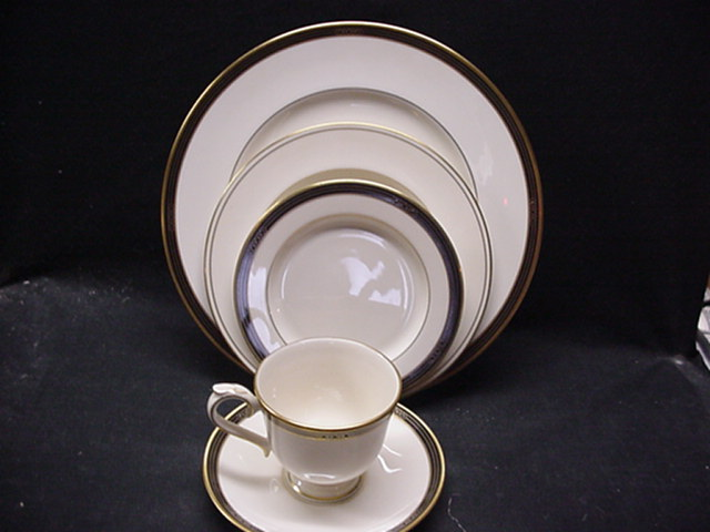 Make sure your browser can show photos and reload this page to see Lenox China Langdon Gate Cup and saucer set  - 3 1/8