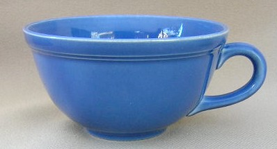 Make sure your browser can show photos and reload this page to see Metlox-Poppytrail-Vernon Pottery Early California - Cobalt Cup only (no saucer) flat 2 1/8