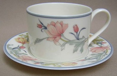 Make sure your browser can show photos and reload this page to see Gorham China Ashley Cup and saucer set 3 1/8