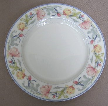 Make sure your browser can show photos and reload this page to see Gorham China Ashley Salad plate 8 1/4