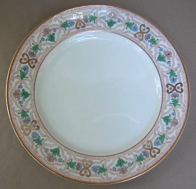 Make sure your browser can show photos and reload this page to see Gorham China Empress 713 Dinner plate 10 3/4