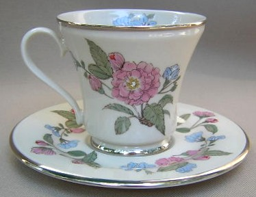 Make sure your browser can show photos and reload this page to see Gorham China Fairmeadows Cup and saucer set 3 1/2