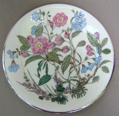 Make sure your browser can show photos and reload this page to see Gorham China Fairmeadows Salad plate 8 1/4