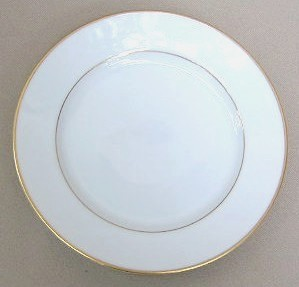 Make sure your browser can show photos and reload this page to see Gorham China Hallmark Gold Bread and butter plate 6 1/2