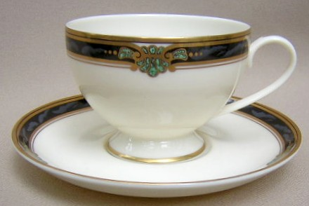 Make sure your browser can show photos and reload this page to see Gorham China Huntington Cup and saucer set 3 1/2