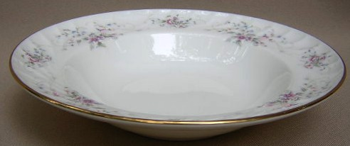 Make sure your browser can show photos and reload this page to see Gorham China Jolie Soup bowl, rim shape 8 3/8