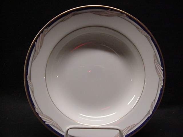 Make sure your browser can show photos and reload this page to see Gorham China Golden Swirl Soup bowl  - 8 5/8