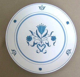 Make sure your browser can show photos and reload this page to see Noritake China Blue Haven 9004 Salad plate 8 3/8