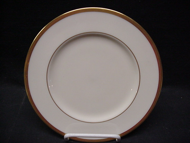 Make sure your browser can show photos and reload this page to see Lenox China Tuxedo J33 Salad plate  - 8 3/8