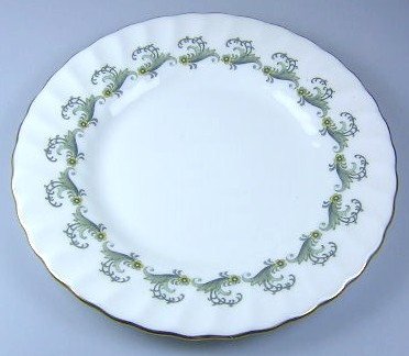 Make sure your browser can show photos and reload this page to see Minton China Ermine S694 Bread and butter plate 6 1/4